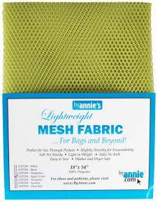 by annie Mesh fabric applegreen