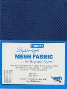by annie Mesh fabric blastoff blue