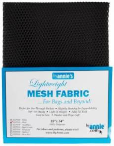 by annie Mesh fabric black