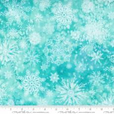 Star flower winter snowflake aqua
