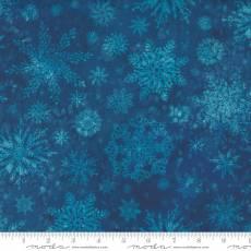 Star flower winter snowflake navy