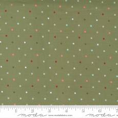 Christmas morning dots green multi