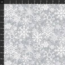 Welcome Winter Snowflakes grey
