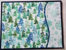 Winter forest Tischsets