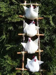 Anleitung Vier Hühner auf der Leiter
