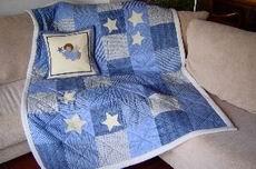 Kuschelquilt mit Sternen