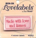 Love labels - Made with love and kisses