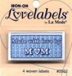 Love labels - Made with love by mum