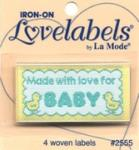 Love labels - Made with love for baby