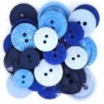 Knöpfe - Color me blue