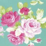 Sadies Dance Card blue rose