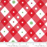 Merry and Bright diagonal mesh red