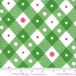 Merry and Bright diagonal mesh green